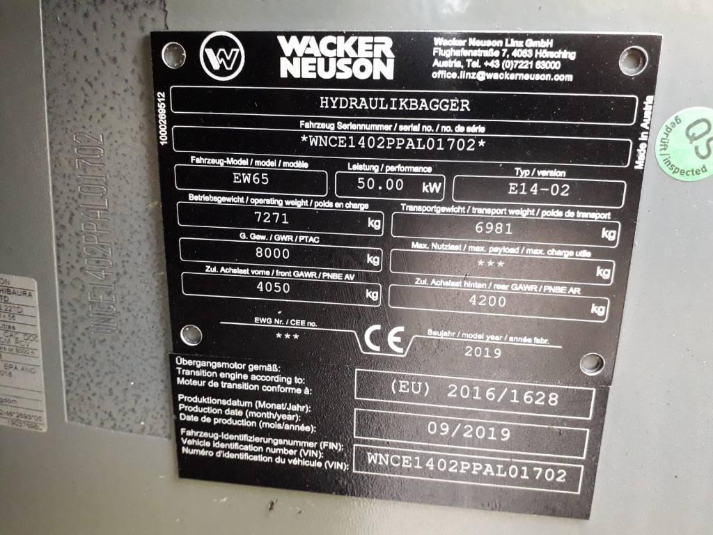 Wacker Neuson EW65, Wielgraafmachines, Bouw