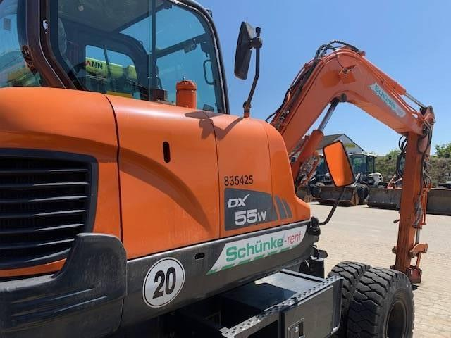 Doosan DX 55 W, Wheeled Excavators, Construction Equipment