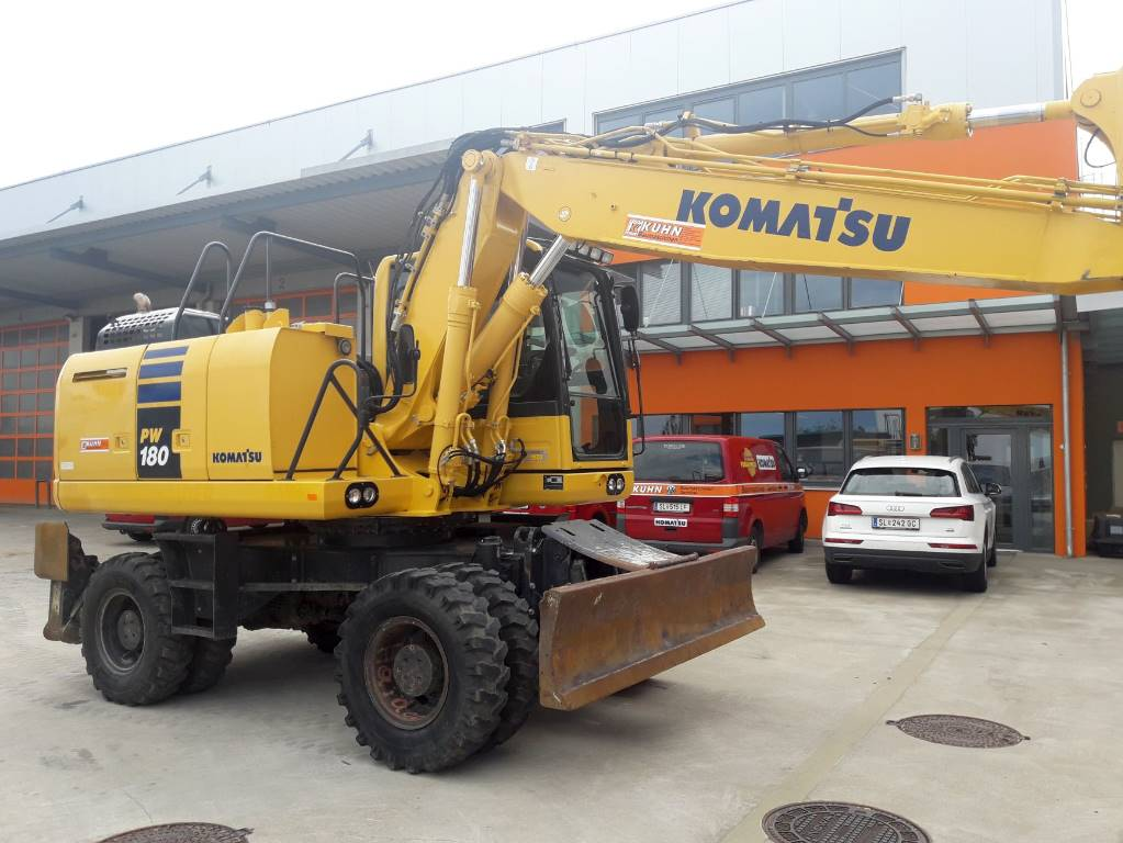Komatsu PW180-10, Wheeled Excavators, Construction Equipment