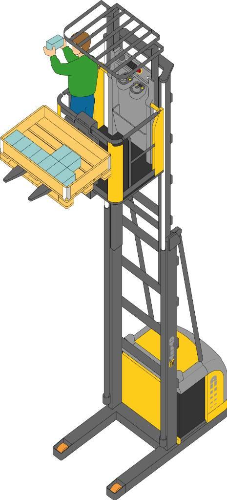 Atlet OPC100DTFV610, Plocktruck, höglyftande, Materialhantering