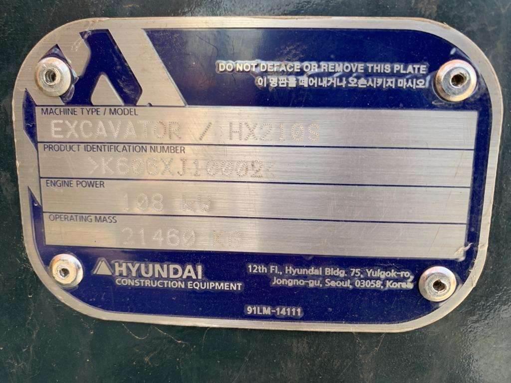 Hyundai HX210S, Crawler Excavators, Construction