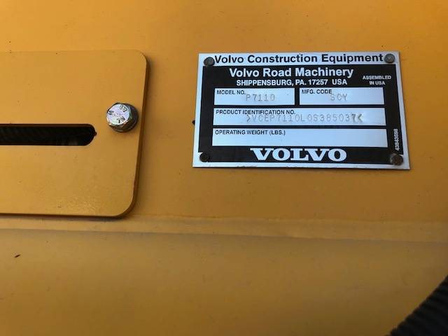 Volvo P7110, Road Construction Other, Construction Equipment