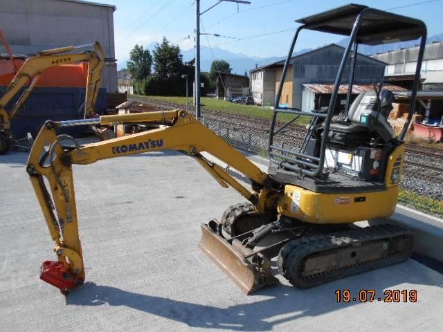 Komatsu PC16R-3HS, Mini excavators, Construction