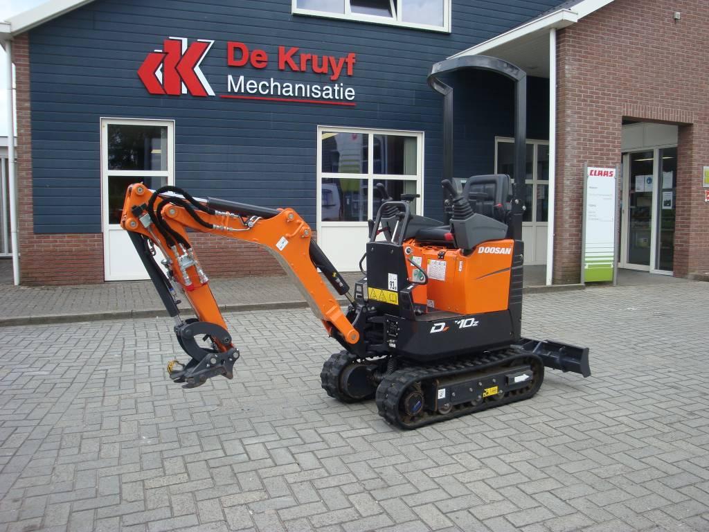 Doosan DX10Z, Mini excavators, Construction