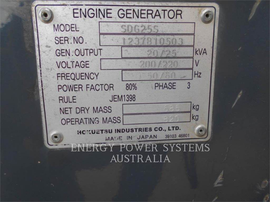 Airman SDG25S, Stationary Generator Sets, Construction