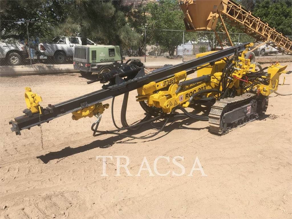 Atlas Copco ROC203, Perfuradoras pesadas, Equipamentos Construção