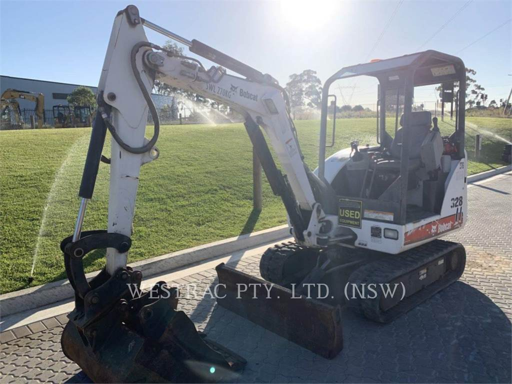 Bobcat 328, Crawler Excavators, Construction