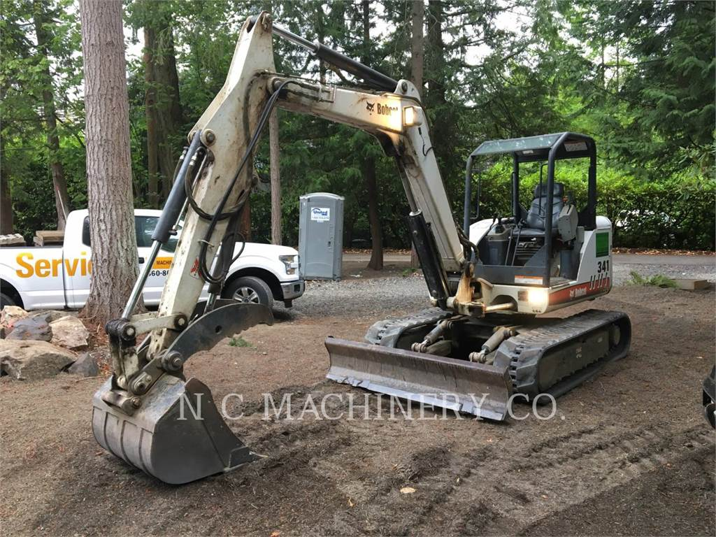Bobcat 341G, Crawler Excavators, Construction