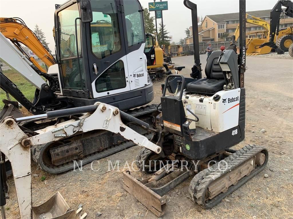Bobcat 418, Escavadoras de rastos, Equipamentos Construção