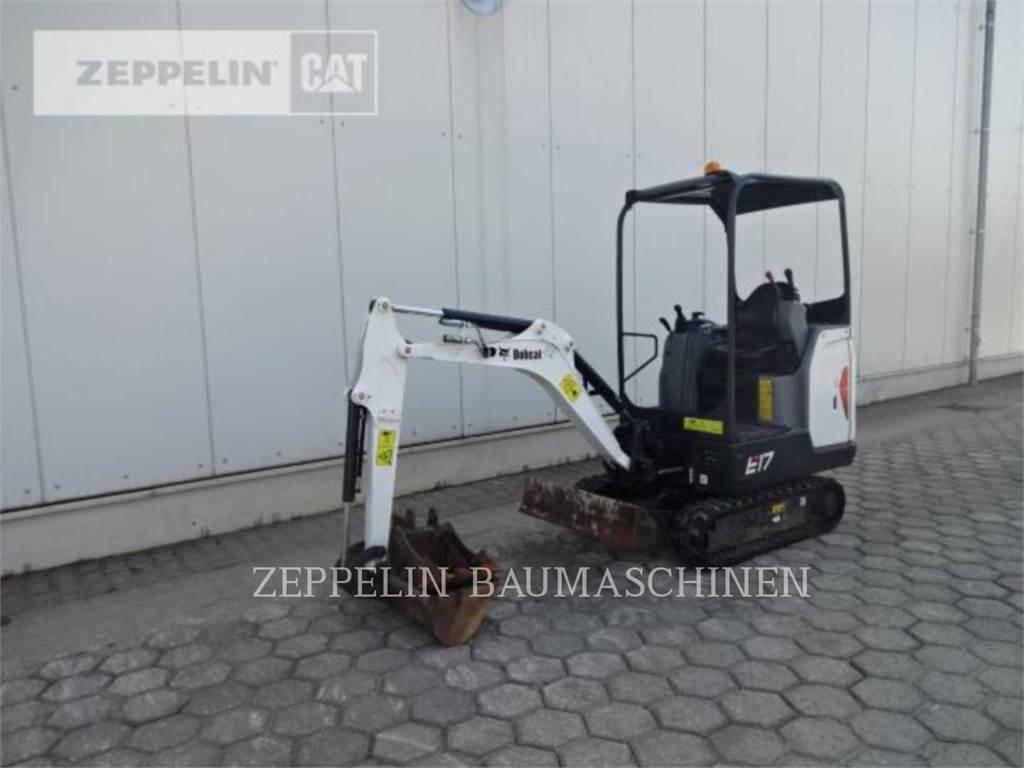Bobcat E17、履带挖掘机、建筑设备