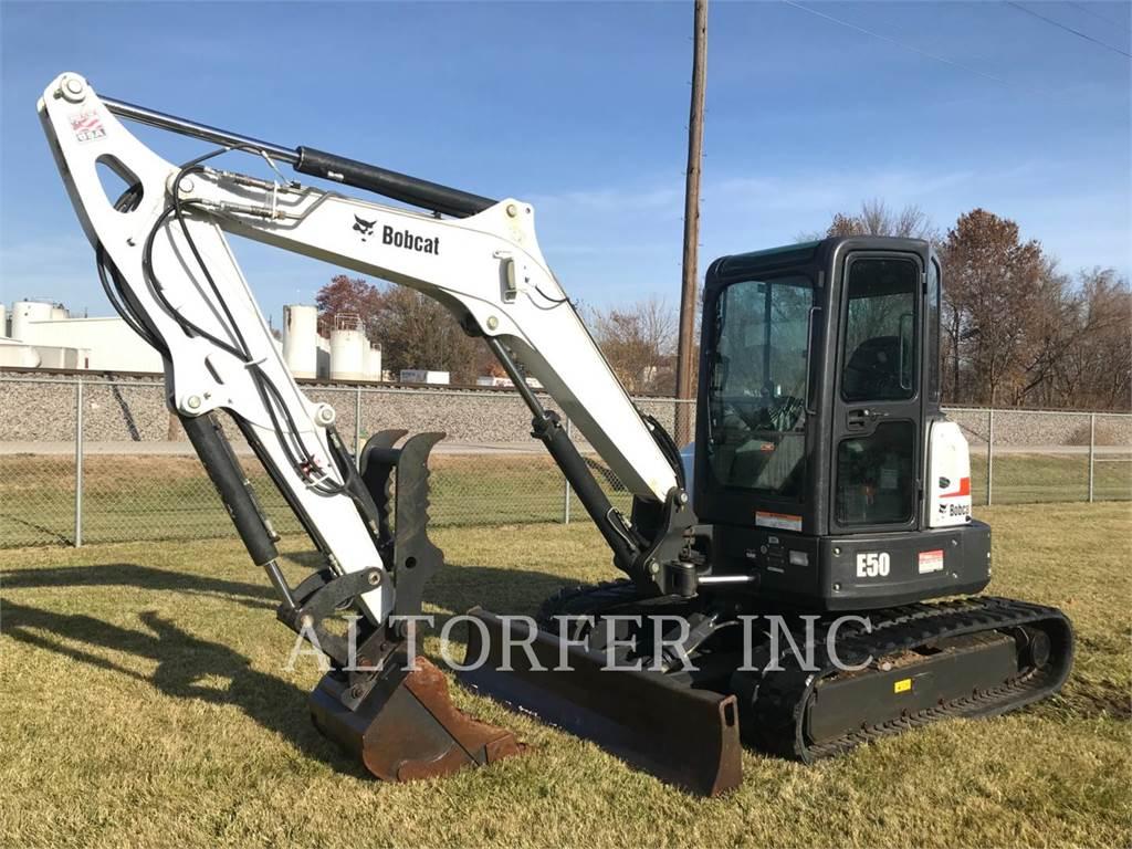 Bobcat E50、履带挖掘机、建筑设备