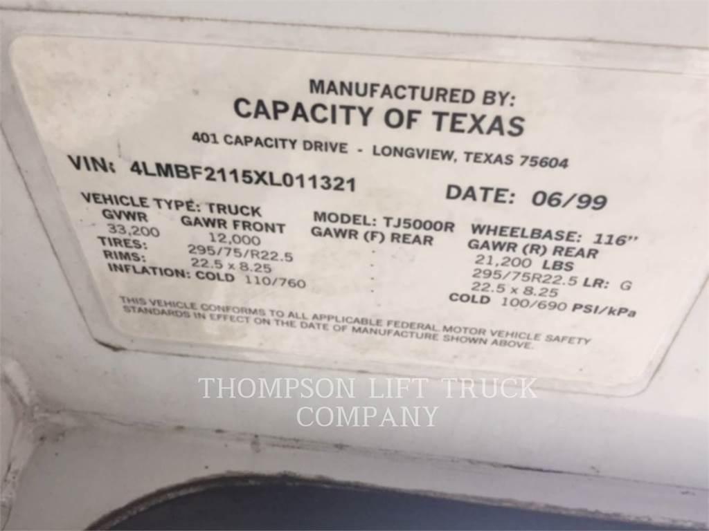 Capacity YARD JOCKEY TJ5000, Knik dumptrucks, Bouw