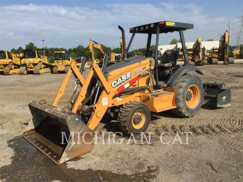 CASE 570, buldoexcavatoare, Constructii