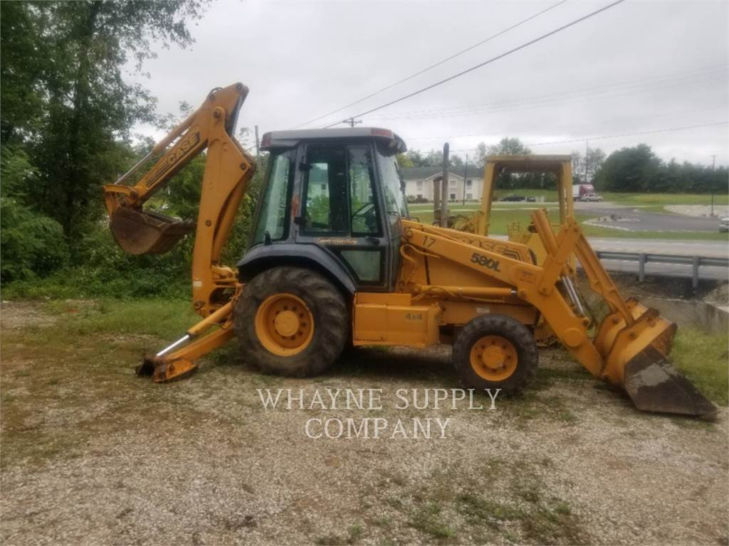 CASE 580L, backhoe loader, Construction