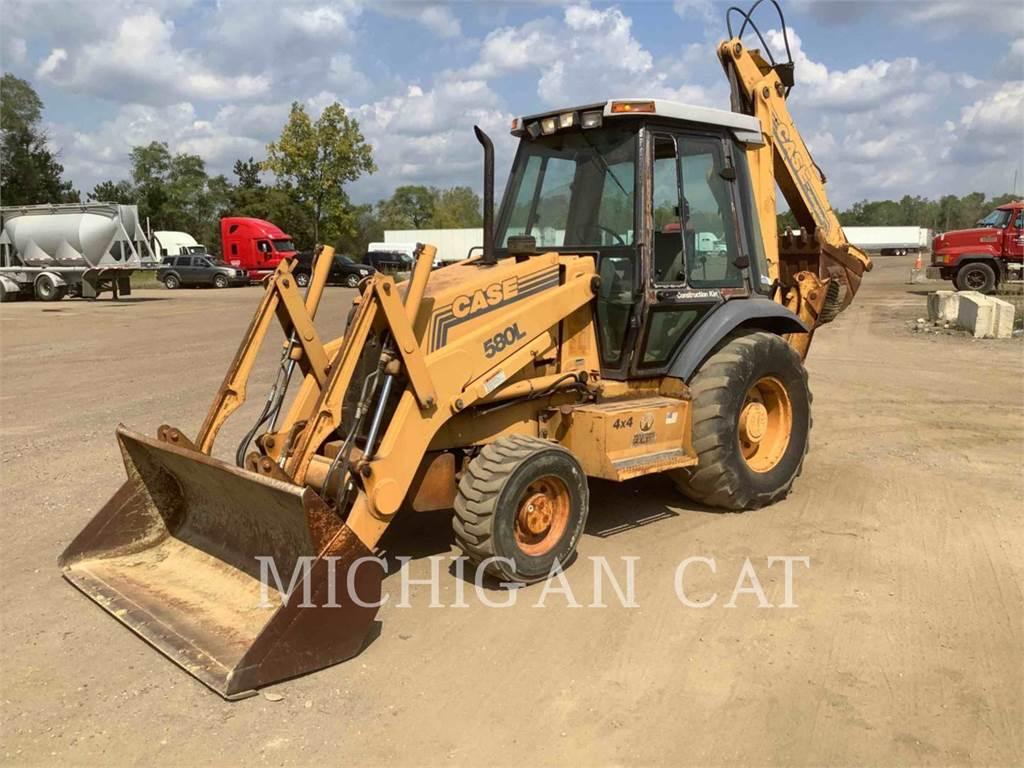 CASE 580L, buldoexcavatoare, Constructii