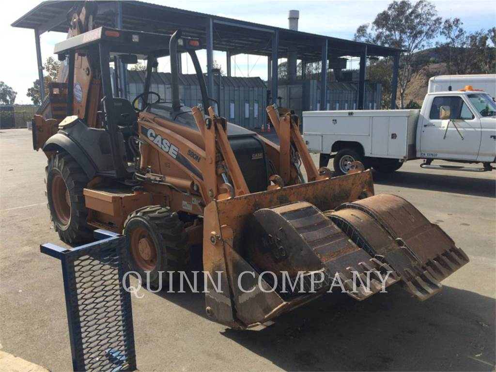CASE 580N, backhoe loader, Construction