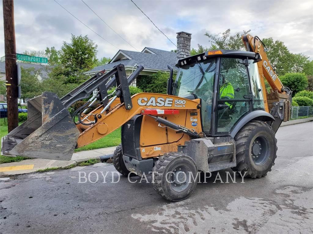 CASE 580N, buldoexcavatoare, Constructii