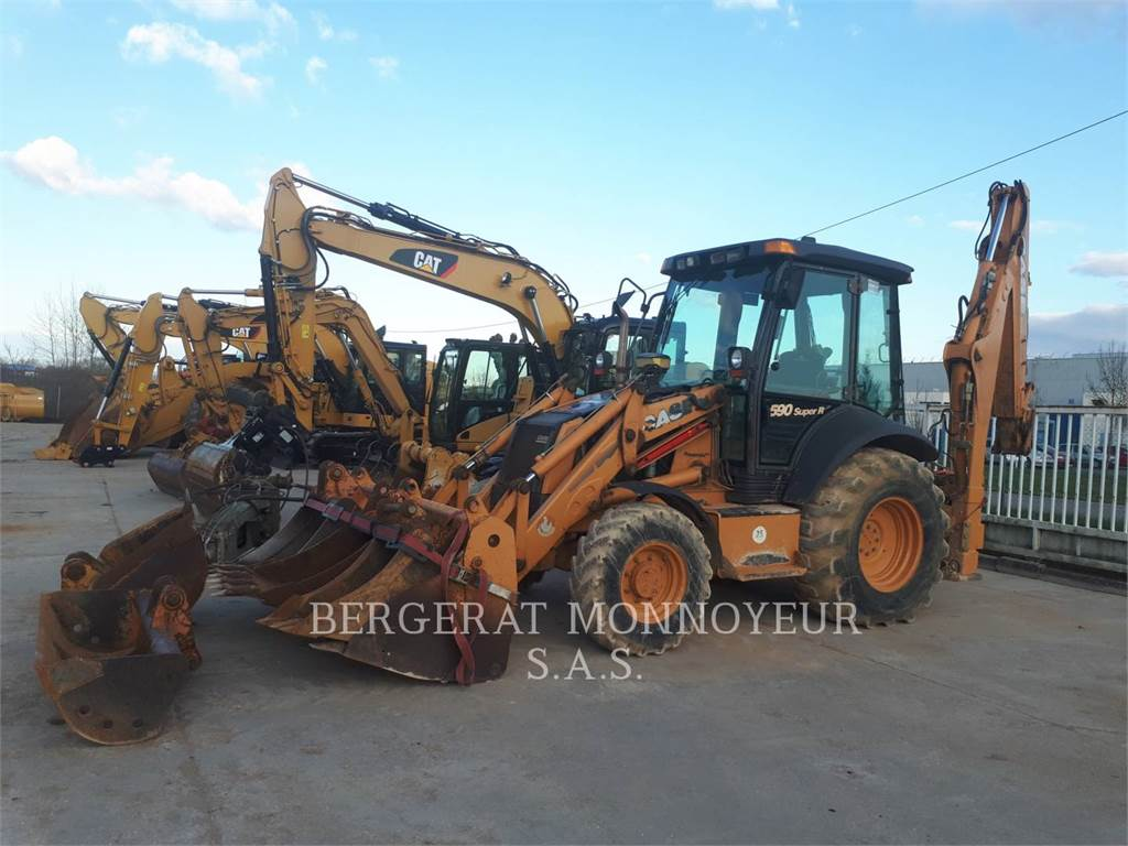 CASE 590SR, backhoe loader, Construction