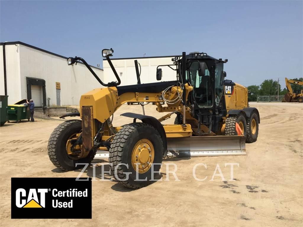Caterpillar 12M2AWD, карьерный автогрейдер, Строительное