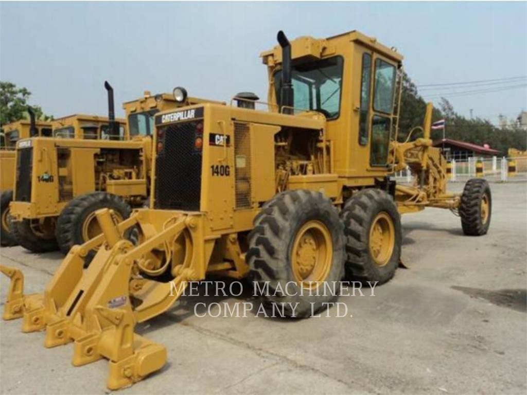 Caterpillar 140G, kopalniana równiarka samojezdna, Sprzęt budowlany