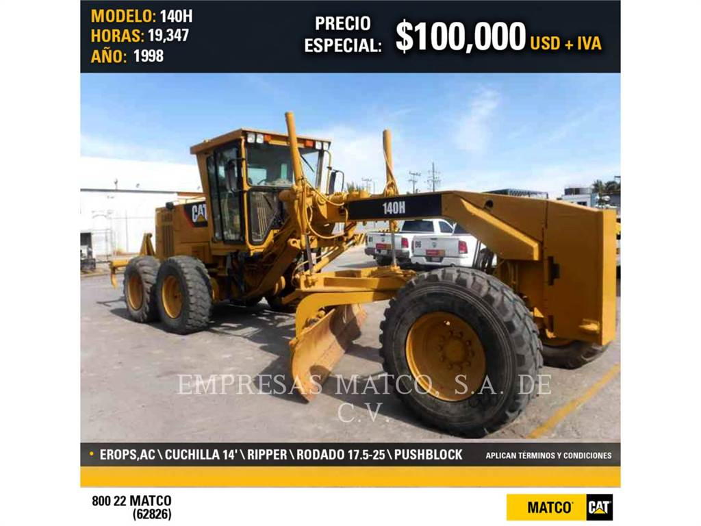 Caterpillar 140HNA, motor graders, Construction