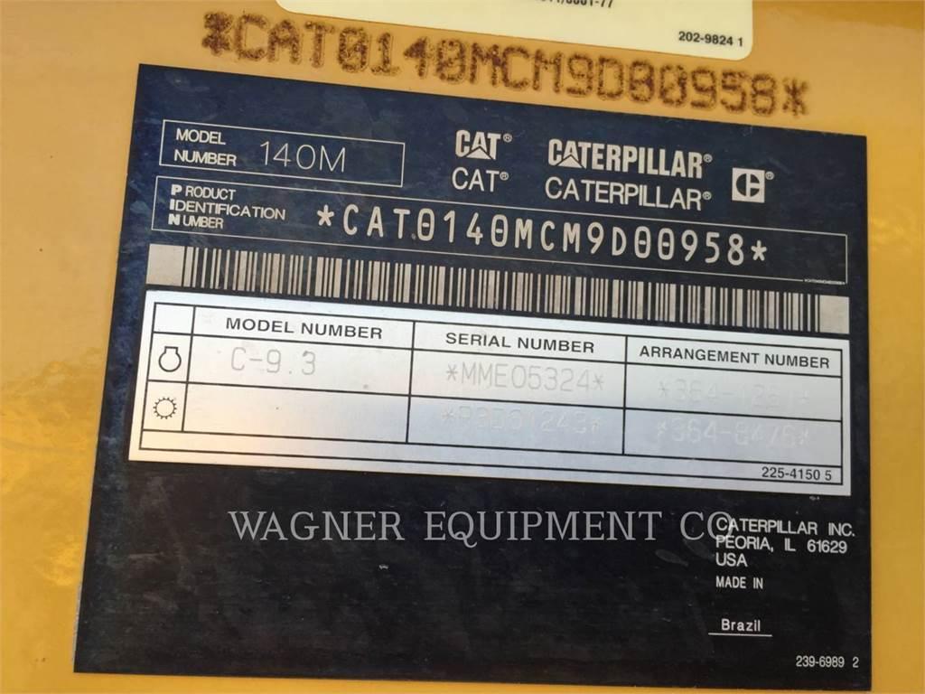 Caterpillar 140M2, autogreder minier, Constructii