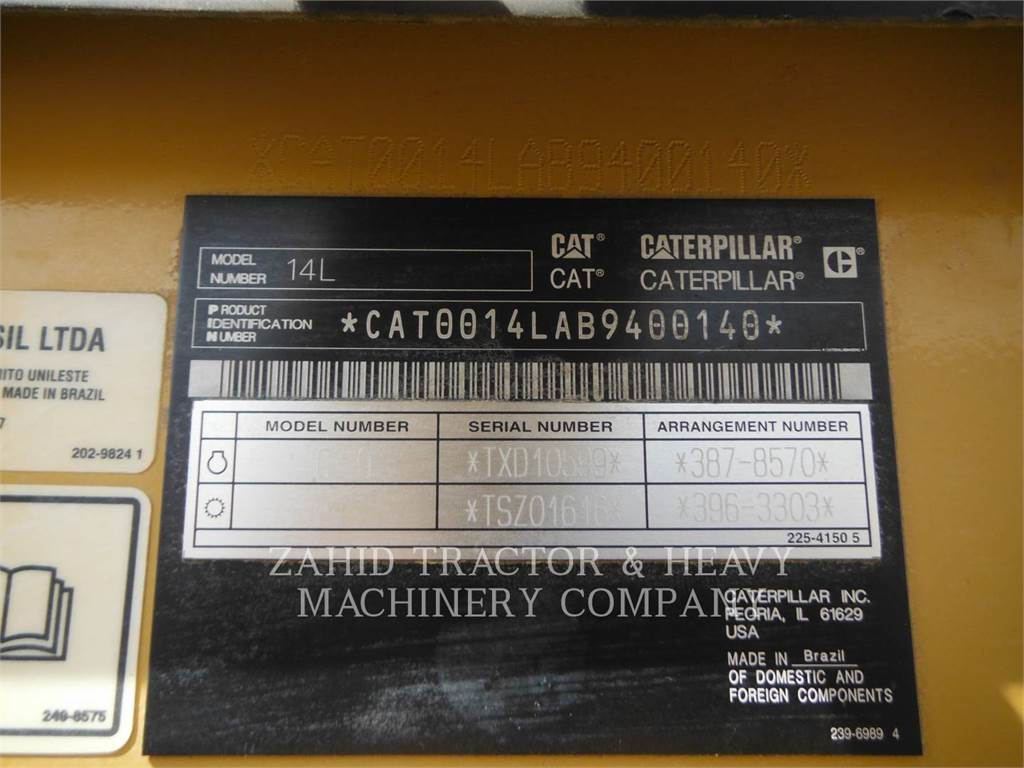 Caterpillar 14LAWD, motor graders, Construction