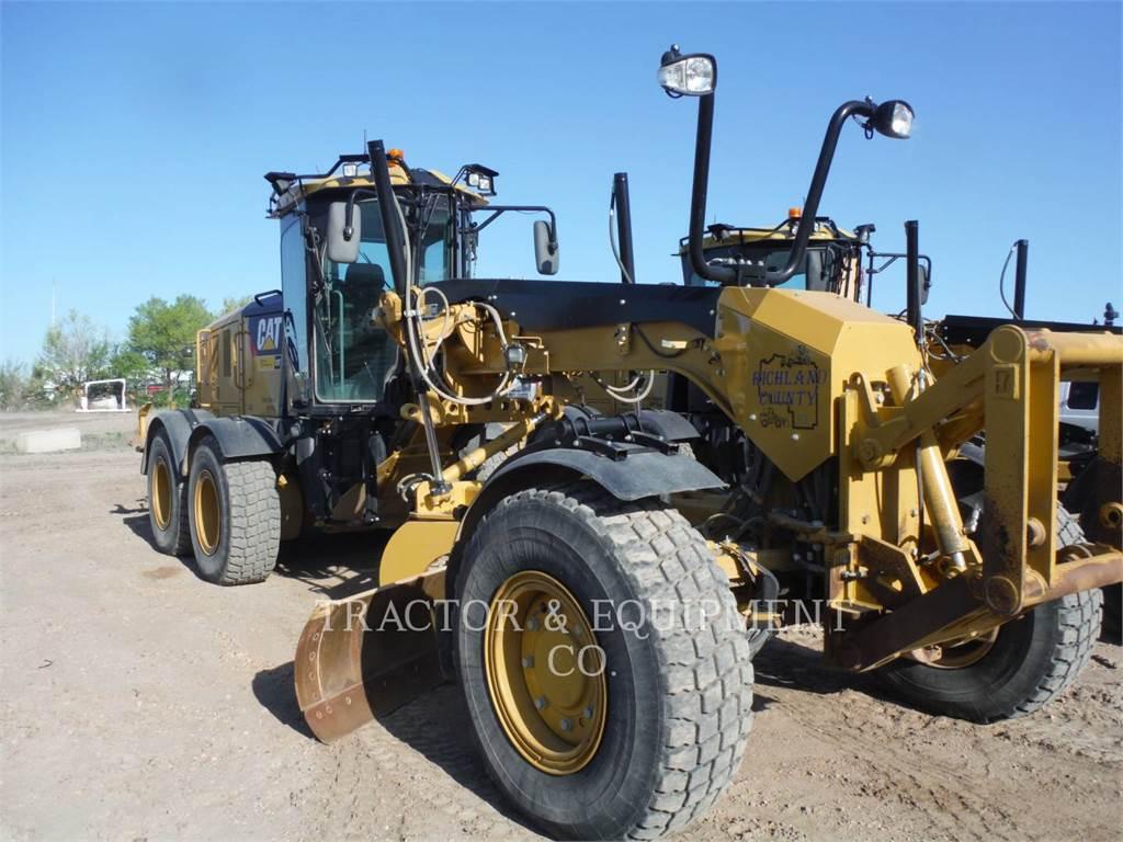 Caterpillar 160M2AWD, kopalniana równiarka samojezdna, Sprzęt budowlany