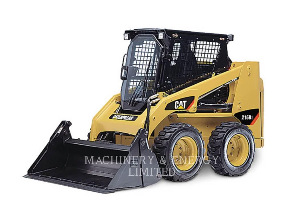 Caterpillar 216 B、スキッドステアローダー、建設