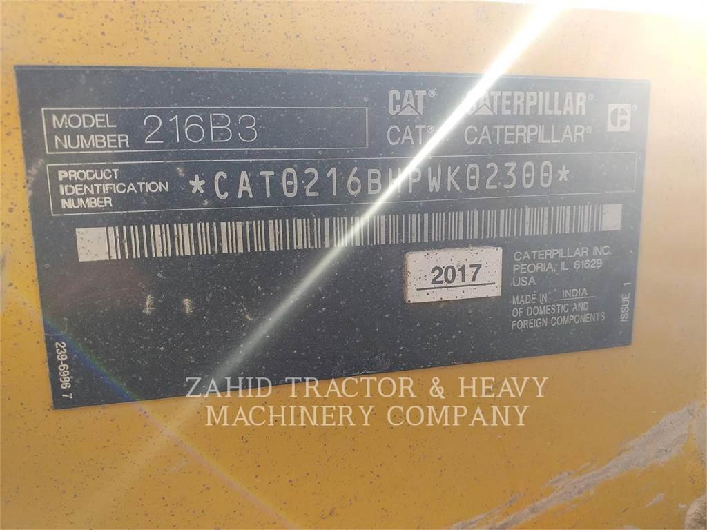 Caterpillar 216B3LRC、スキッドステアローダー、建設