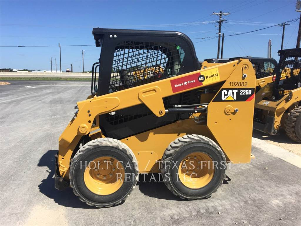 Caterpillar 226 D、スキッドステアローダー、建設