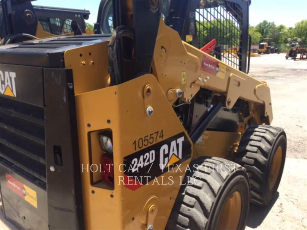 Caterpillar 242 D、スキッドステアローダー、建設