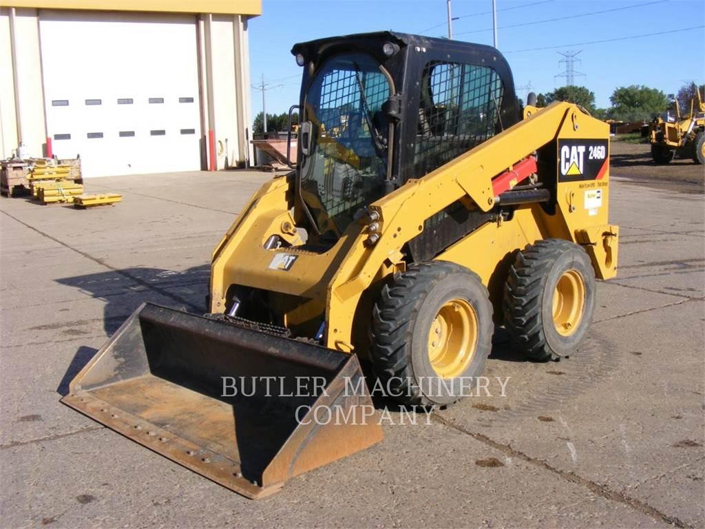 Caterpillar 246D、滑移装载机、建筑设备