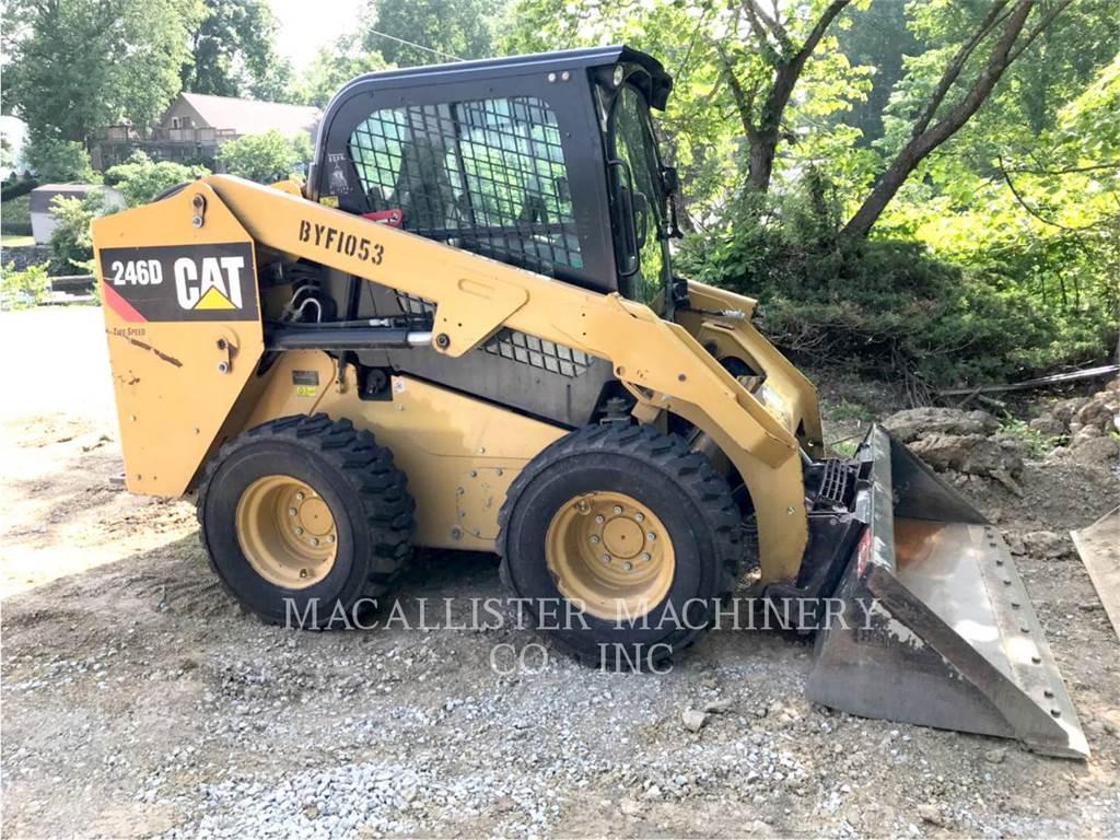 Caterpillar 246D、スキッドステアローダー、建設