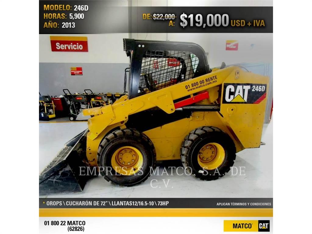 Caterpillar 246DLRC、滑移装载机、建筑设备