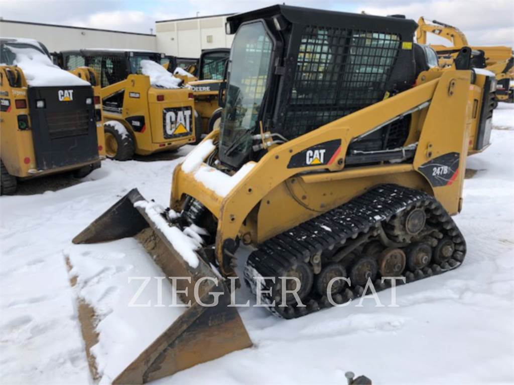 Caterpillar 247B3、滑移装载机、建筑设备