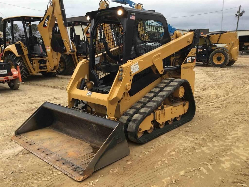 Caterpillar 249 D, Carregadoras de direcção deslizante, Equipamentos Construção
