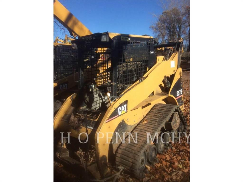 Caterpillar 257B、スキッドステアローダー、建設
