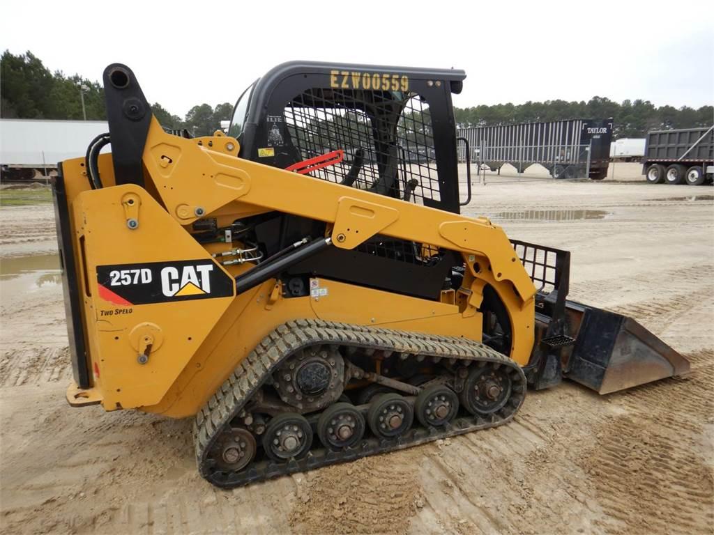 Caterpillar 257D、スキッドステアローダー、建設