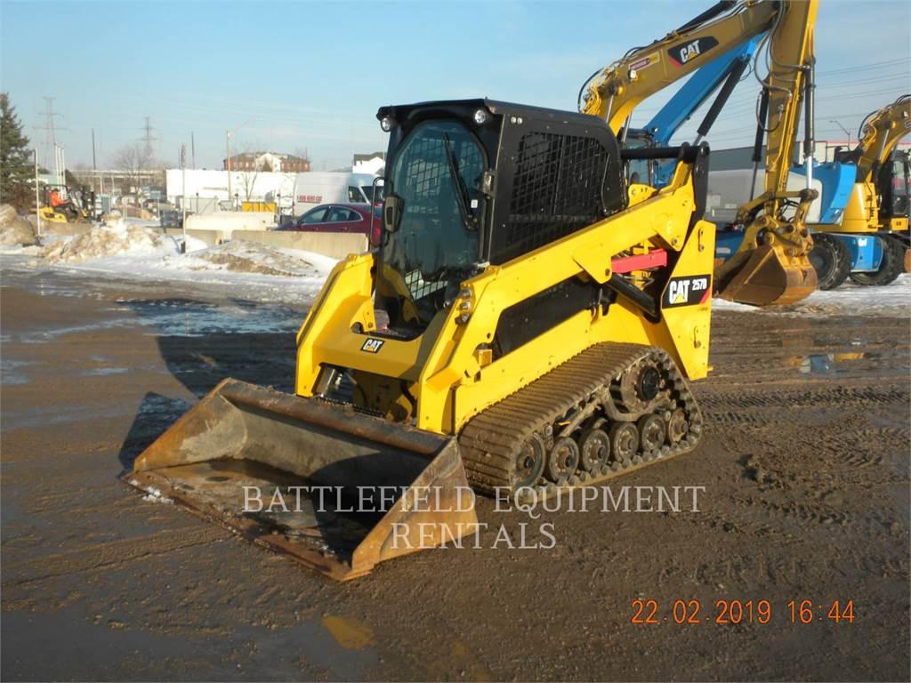 Caterpillar 257D, Carregadoras de direcção deslizante, Equipamentos Construção