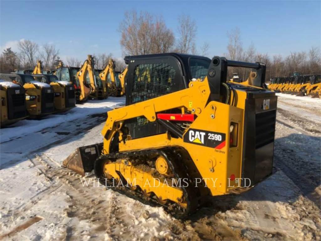 Caterpillar 259D, Minicargadoras, Construcción
