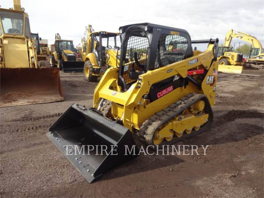 Caterpillar 259D3, Carregadoras de direcção deslizante, Equipamentos Construção