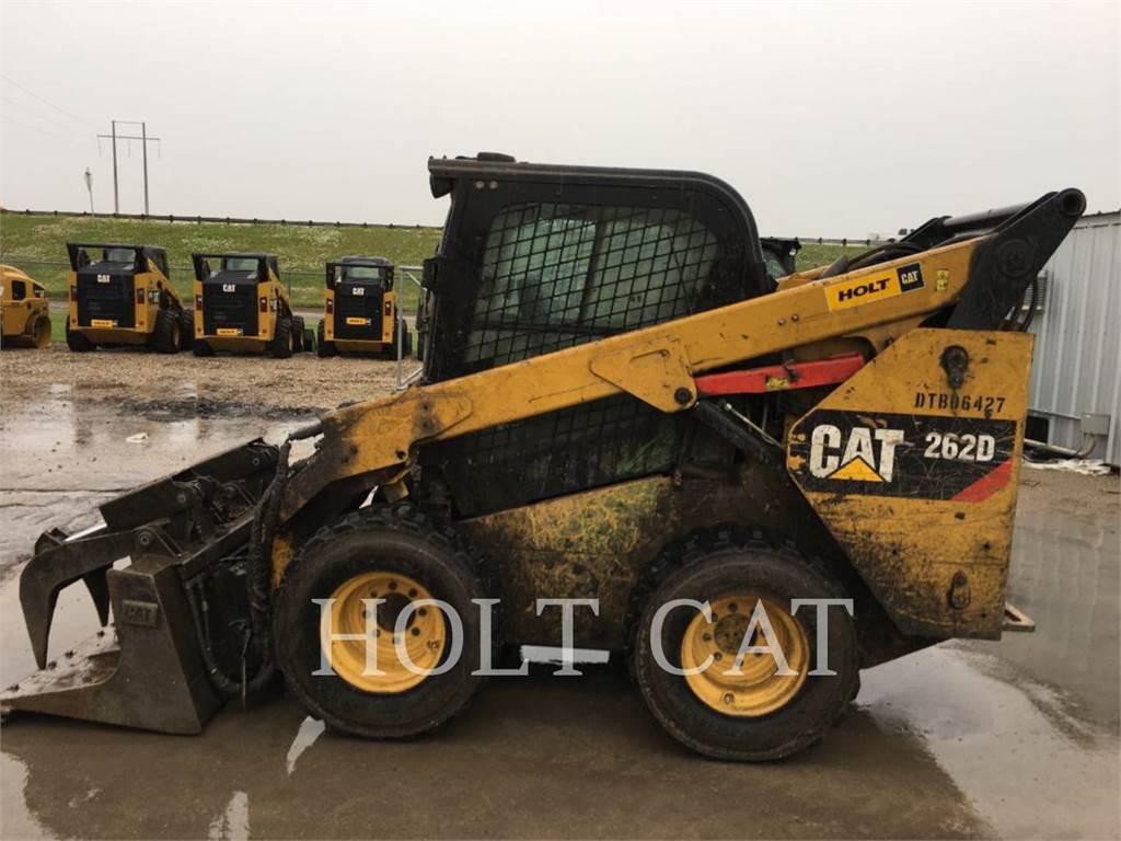 Caterpillar 262D CAB、滑移装载机、建筑设备