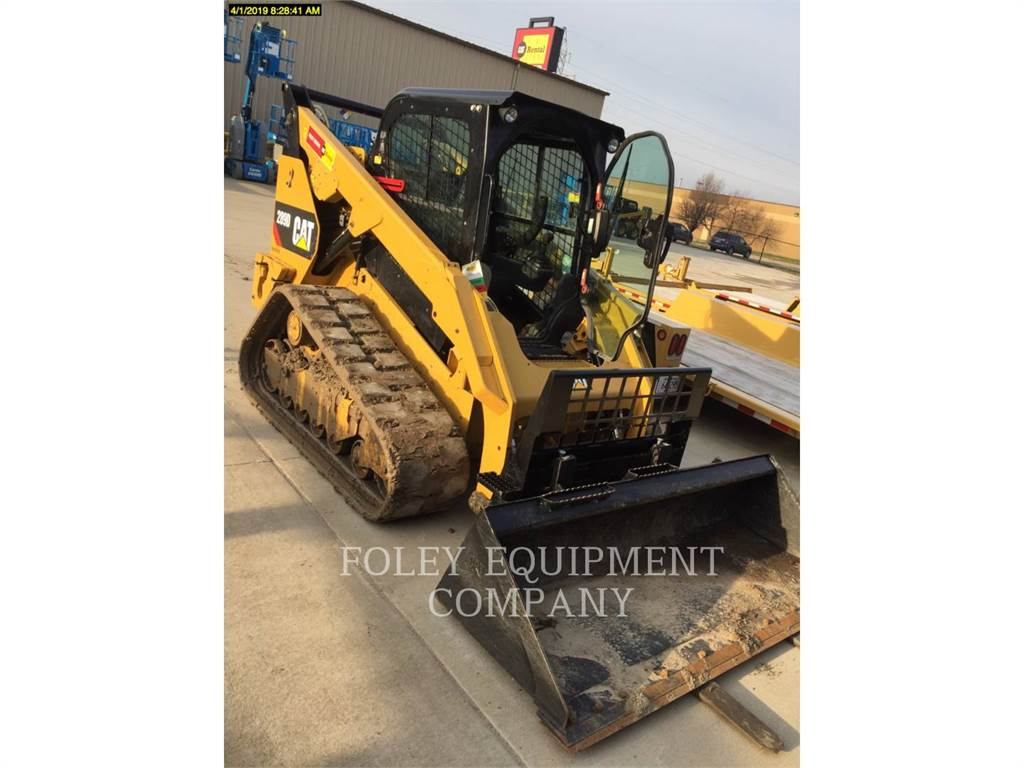 Caterpillar 289DSTD2CA、スキッドステアローダー、建設