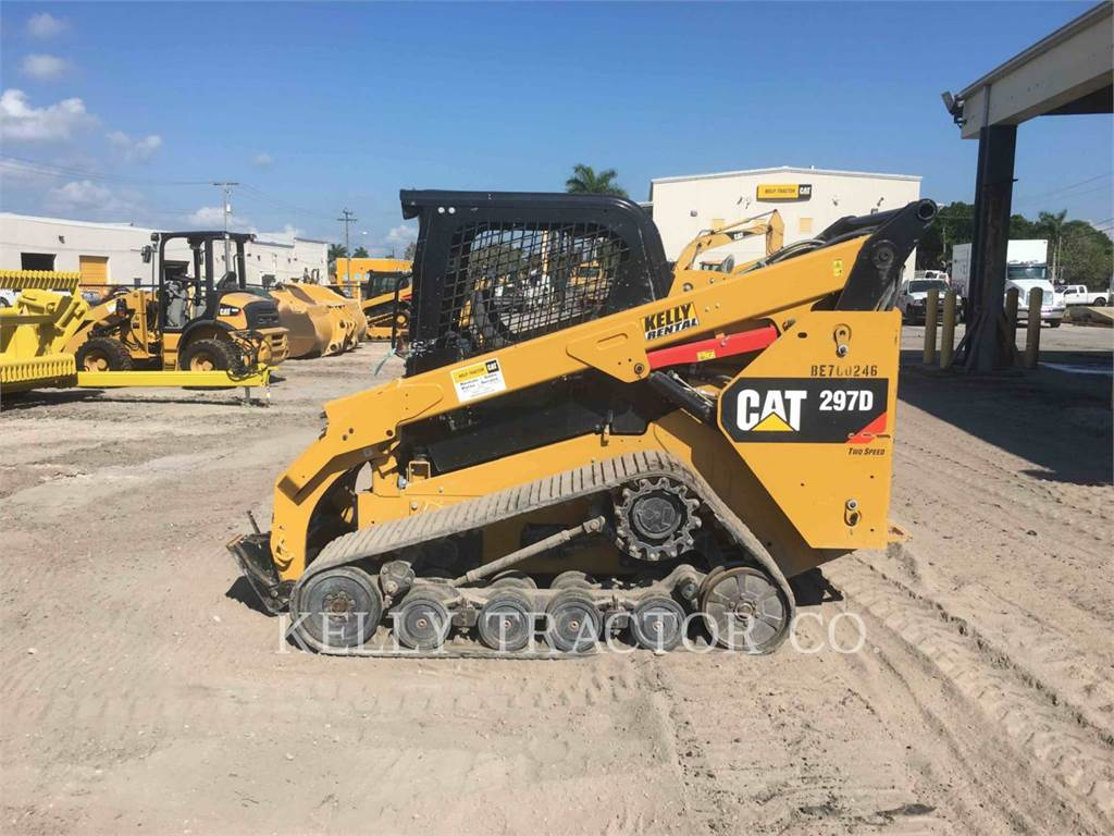 Caterpillar 297D、スキッドステアローダー、建設