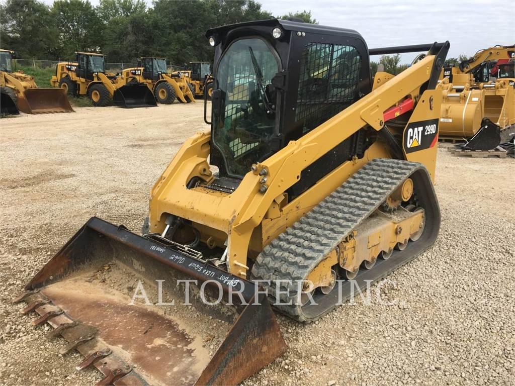 Caterpillar 299D、スキッドステアローダー、建設