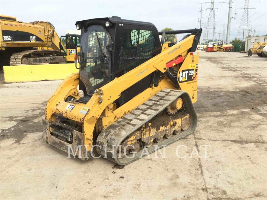Caterpillar 299D2 AHQ、滑移装载机、建筑设备