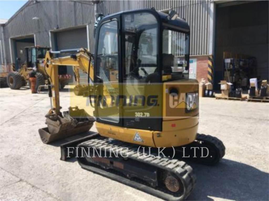 Caterpillar 302.7D CAB, Crawler Excavators, Construction