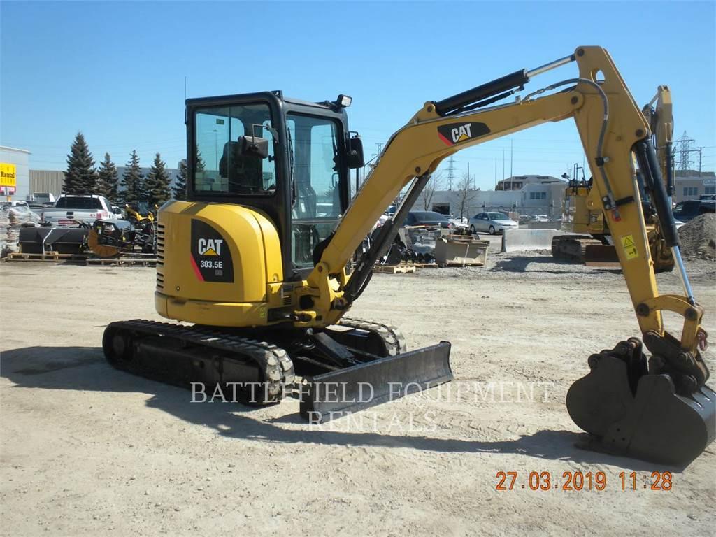 Caterpillar 303.5E, Excavadoras de cadenas, Construcción