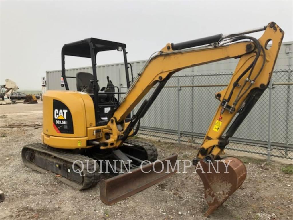 Caterpillar 303.5E CR, Excavadoras de cadenas, Construcción